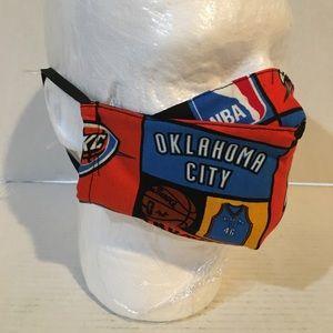 Oklahoma City thunder cotton face mask.